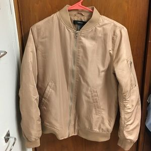 Forever 21 Small Tan Bomber Jacket